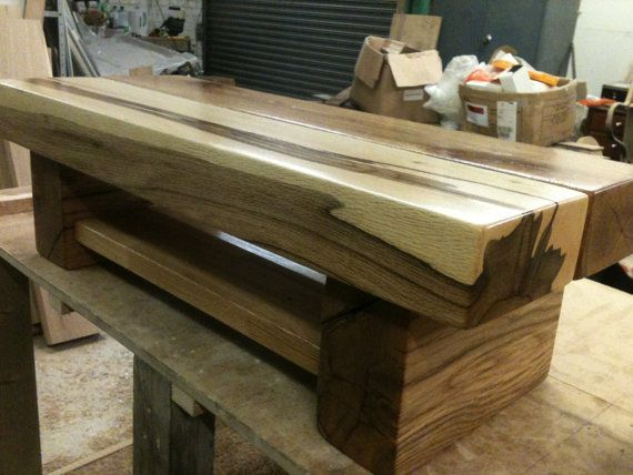 Handmade Oak sleeper table  TV unit by SmjlOaks on Etsy, £215.00