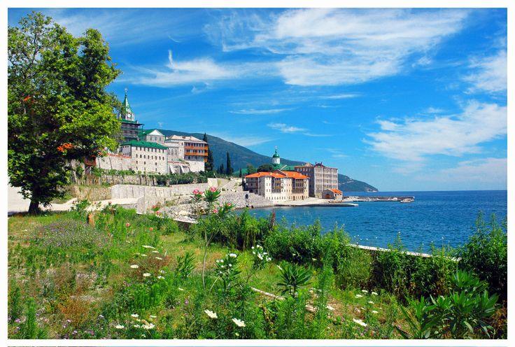 Agiou Panteleimonos Monastery, Mount Athos, Halkidiki, Greece
