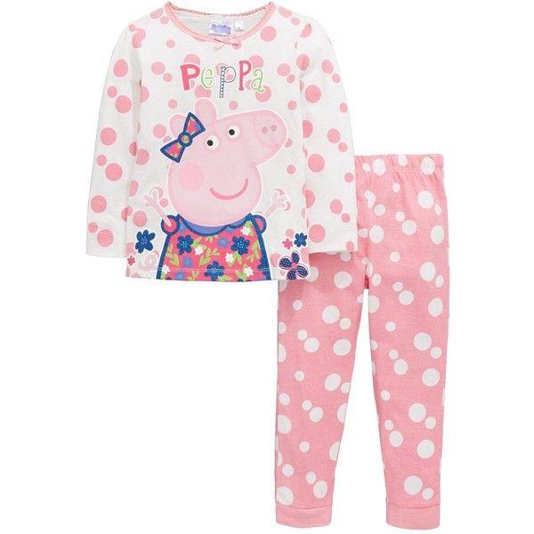Peppa Pig Girls Pyjamas ($16) ❤ liked on Polyvore featuring intimates, sleepwear, pajamas, peppa pig, peppa pig pajamas, peppa pig pyjamas and peppa pig pjs