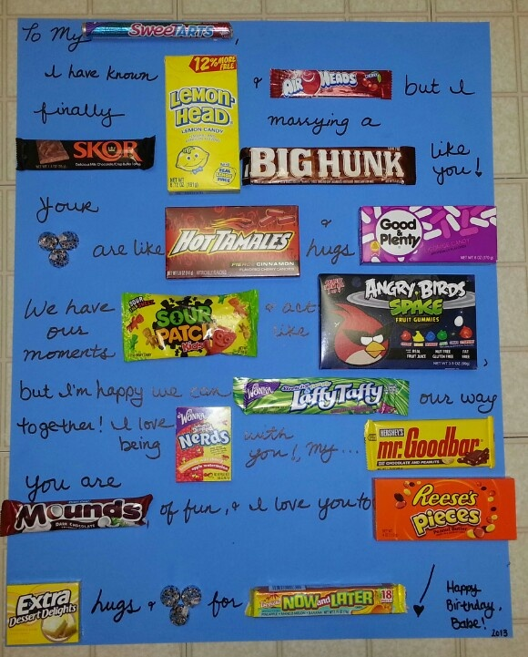 Candy Bars, Birthday Cards And Candy On Pinterest