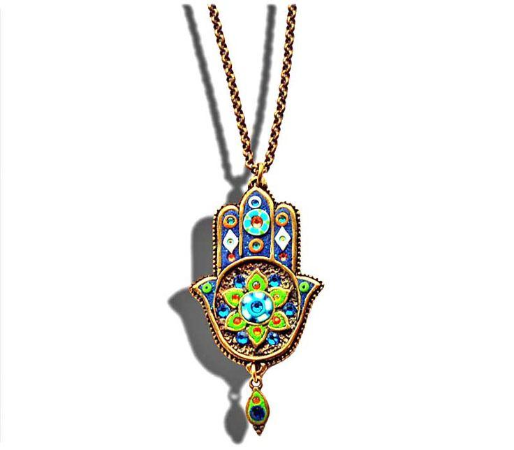 khamsa Necklace.so so cute I love the colors