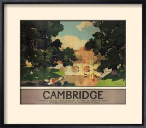 National Railway Museum Framed Art Print Poster Cambridge - River