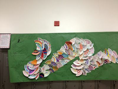 Awesome Dragon Collaborative + Pattern + Chinese New Year Lesson