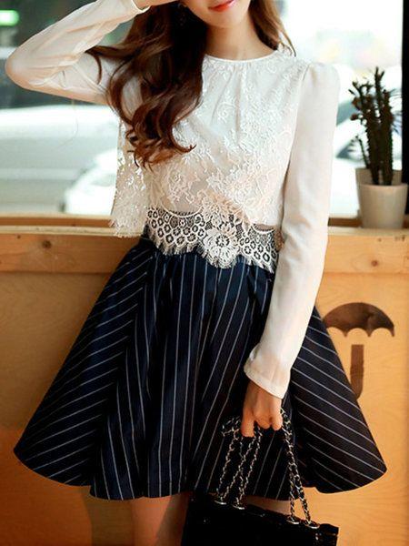 Sweet A-line Polyester Midi Skirt