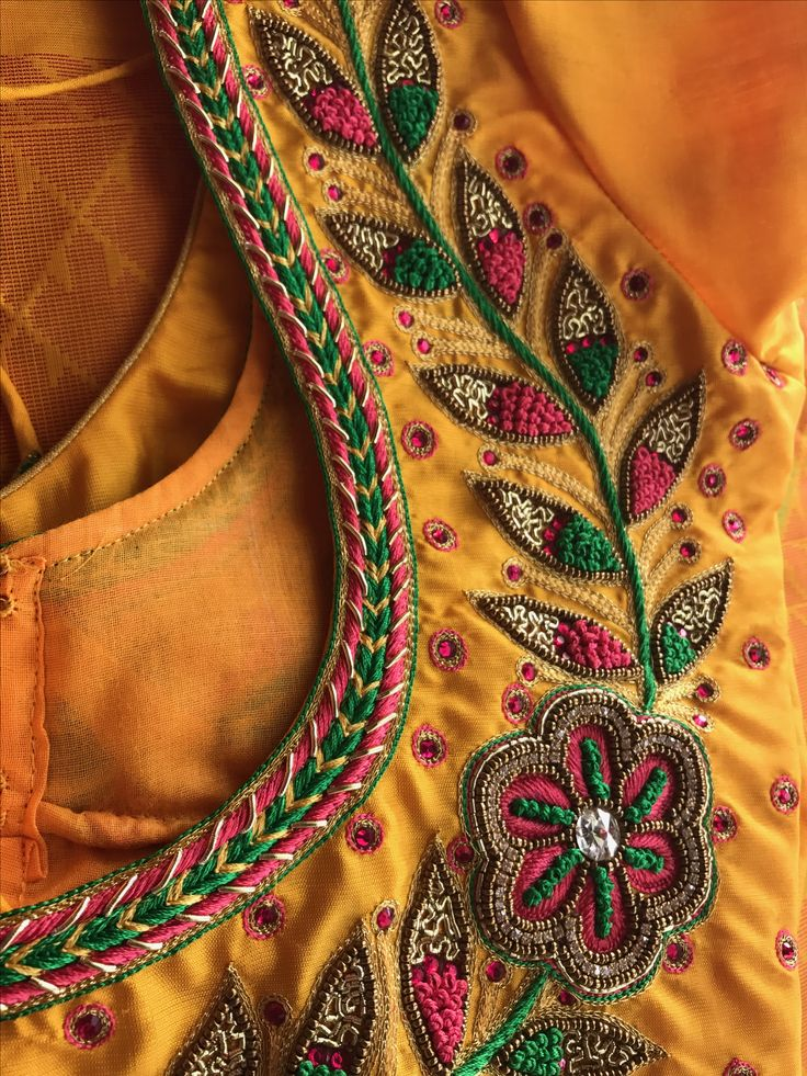 Best neela aari work blouse images on pinterest