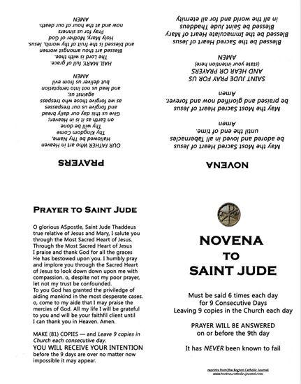 St Jude Novena Ebook Download