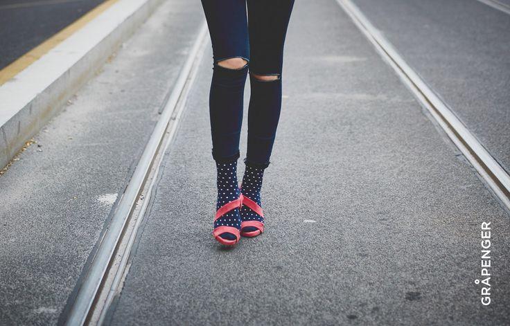 Fåshion Collection | GRÅPENGER #premium #colorful #socks #grapenger #catwalk #dotty #fashion #girl #tramway