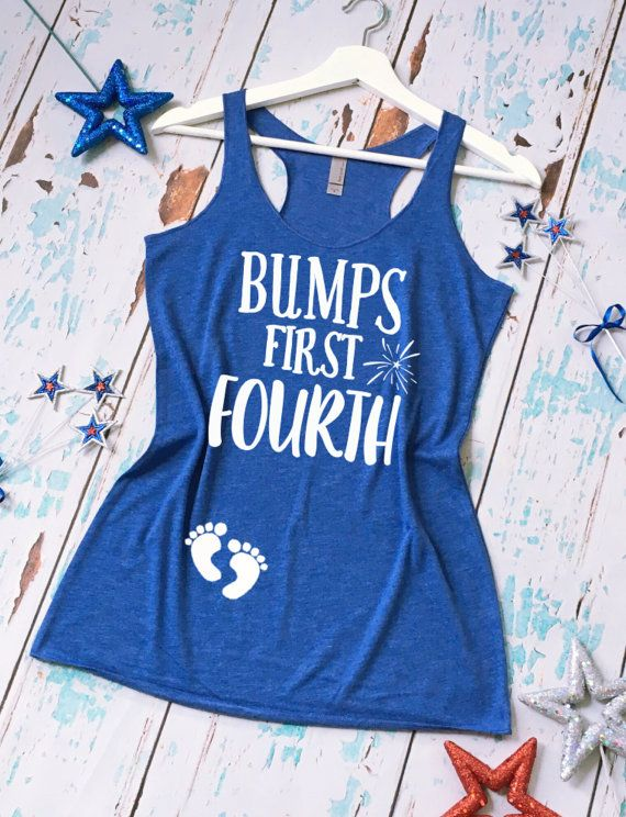 Bump's First Fourth of July Pregnancy Tank by strongconfidentYOU