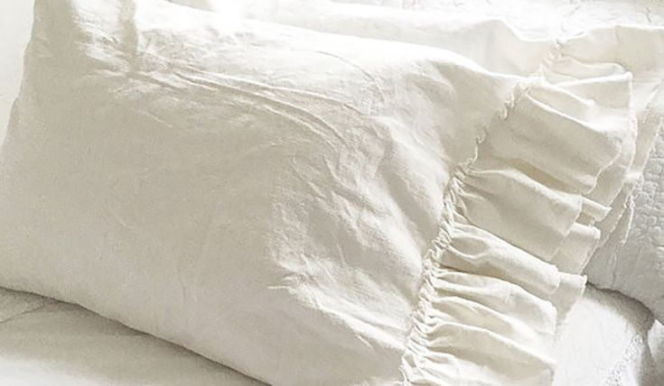 Washed Linen Ruffle Bedding