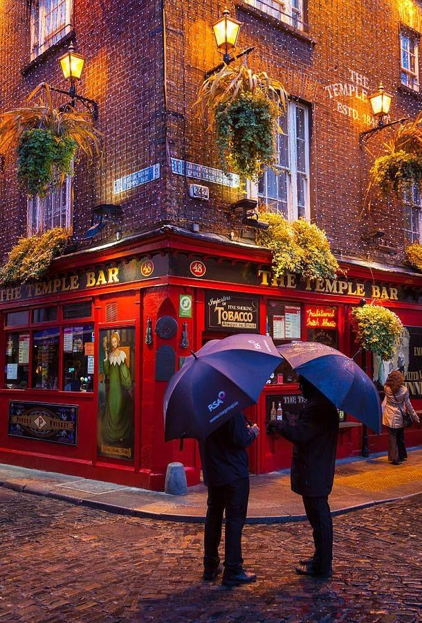 Temple Bar - Dublin. We raised a glass of Guiness to celebrate Arthur's birthday.