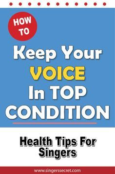 Vocal remedies and singing health tips! http://singerssecret.com/how-to-keep-your-voice-in-top-condition/ #singing #howtosing #singingtips