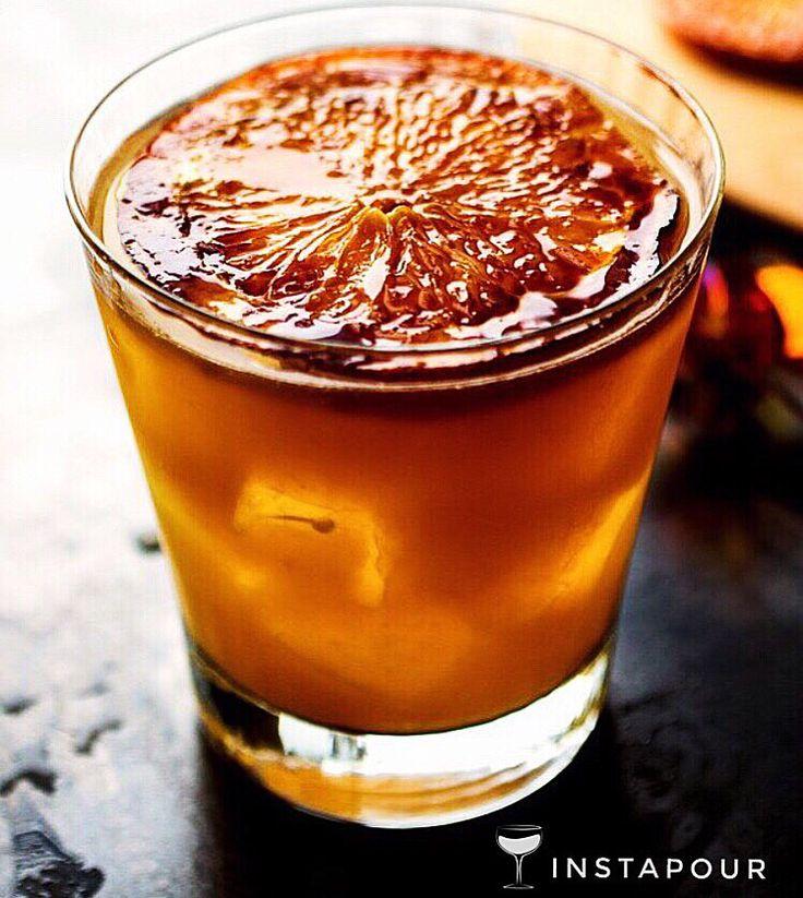 A brûlé of bourbon? Is this a dream? Or is the #recipe-maker just a serious #whiskey baker #genius lady?!!?  ● NAME: Bourbon Brûlé ● CREDITS: @nytimes @nytfood ● DETAILS: #Bourbon, Medium Navel Orange, Sugar, #Amontillado #Sherry, Ginger Liqueur  Instapour.com