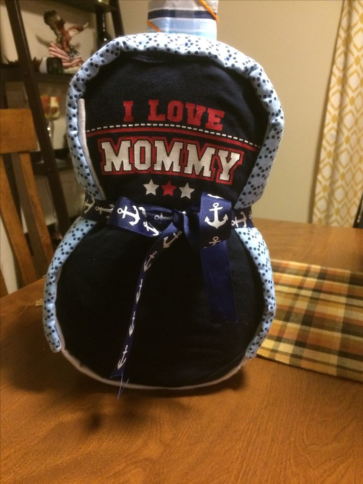 Guitar Diaper Cake made by me!  Back view.