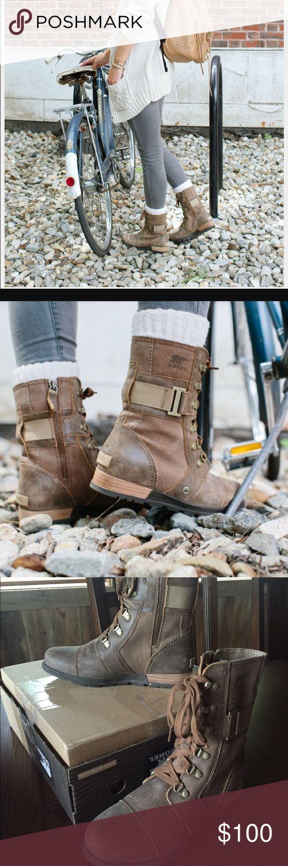 Sorel Major Carly size 8.5 Sorel Major Carly boot in excellent condition. Sorel Shoes Combat & Moto Boots