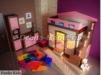 Орбита Мебель - Интернет магазин КАЧЕСТВЕННОЙ детской мебели Фанки Кидз. Вся мебель для детей у нас: кровать-чердак, кровать-машина, двухъярусные кровати, детские спальни и комнаты. Лучшие цены!