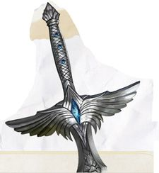 """The longsword Talon, known as Orc-biter; +1 to hit and damage, +2 to hit and damage against Orcs; glows with blue light intensity varies with distance to Orcs; senses Orcs up to 200"""" away"""