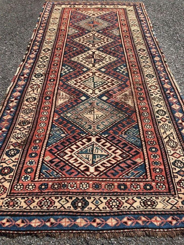 Antiker kaukasischer kazak shulaver teppich antique - Alfombras orientales ...