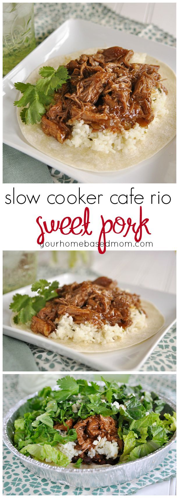 slow cooker cafe rio sweet pork is my favorite copycat recipe.  I love that I can make it at home and not have to drive all the way to Utah to enjoy it!