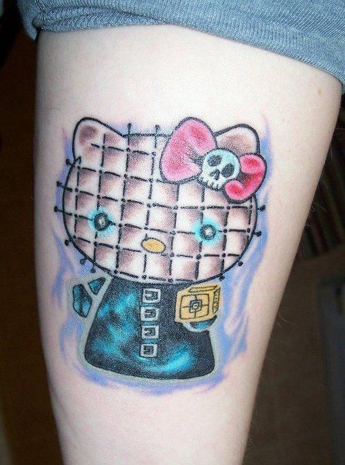 309 best images about hello kitty tattoos on pinterest for Hello kitty tattoo sleeve
