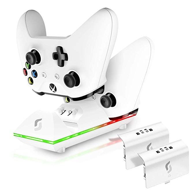 Sliq Xbox One One X One S Controller Charger Station And Battery Pack Fits Two Wireless Game Pads Includes 2 Rechargeable Batteries Also Compatib With Images Xbox One Xbox Charger Station