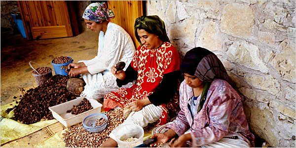 Argan oil, produced by Moroccan women in rural areas of the country, has become the latest cult ingredient.
