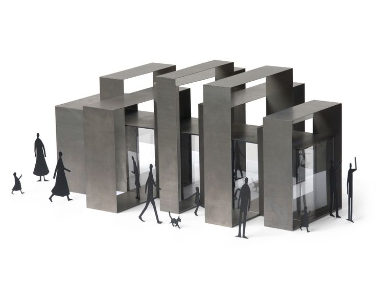 Inspired by the city's skyline, the structure is made of steel and plexiglass, accessible from every side as there is no front nor back. — Sunday Studio | Paris, France — Chicago Architecture Biennial Lakefront Kiosk Competition