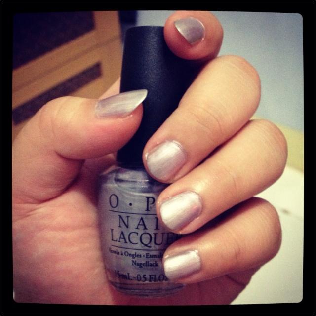 Just finished polish my nail :)