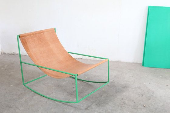 rocking chair | green_leather by valerie_objects