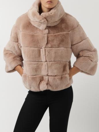 S.W.O.R.D.-giacchino in pelliccia cipria-powder fur jacket-S.W.O.R.D. shop online