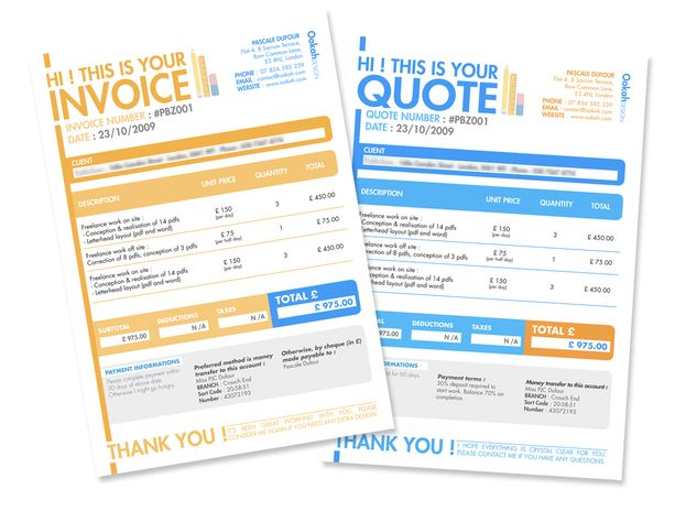 16 Best Invoice + Quote 4 Design Work Images On Pinterest