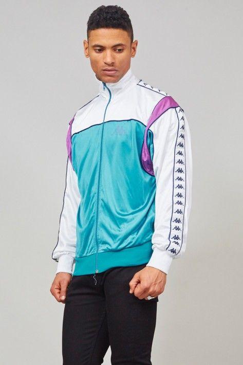 Vintage turquoise 1980's sports Kappa jacket