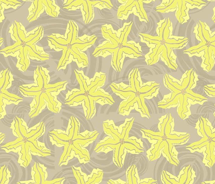 mezzones's shop on Spoonflower: fabric, wallpaper and gift wrap - Zuchinni Garden Yellow flower.