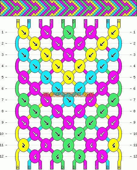 Normal Friendship Bracelet Pattern #4260 - BraceletBook.com