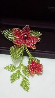 SULAMAN MANIK MAZ: Brooch Bunga Merah