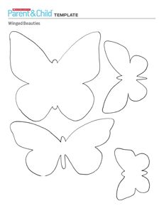template for butterflies. Have each child decorate one to add to the bulletin board.