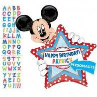 Shape Mickey Birthday Dots, Personalise Stickers Included $21.95 U26364