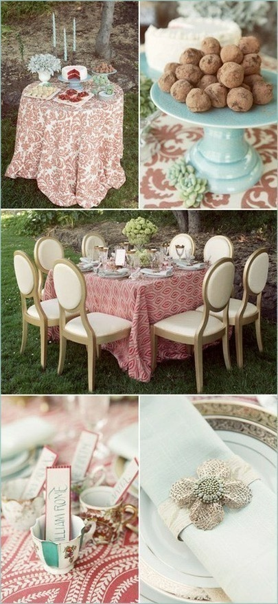 outdoor tea party. Pretty sure I'm going to do this for my daughter's birthday party. Alice in Wonderland style.