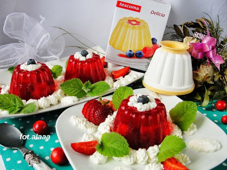 Pani Alina przygotowała w naszych foremkach przepyszne galaretki w uroczym kształcie. Zobaczcie przepis. A produkt dostępny jest w http://mykitchen.pl/Foremki-na-budyn-Delicia-Tescoma-4szt. #kuchnia #homedecor