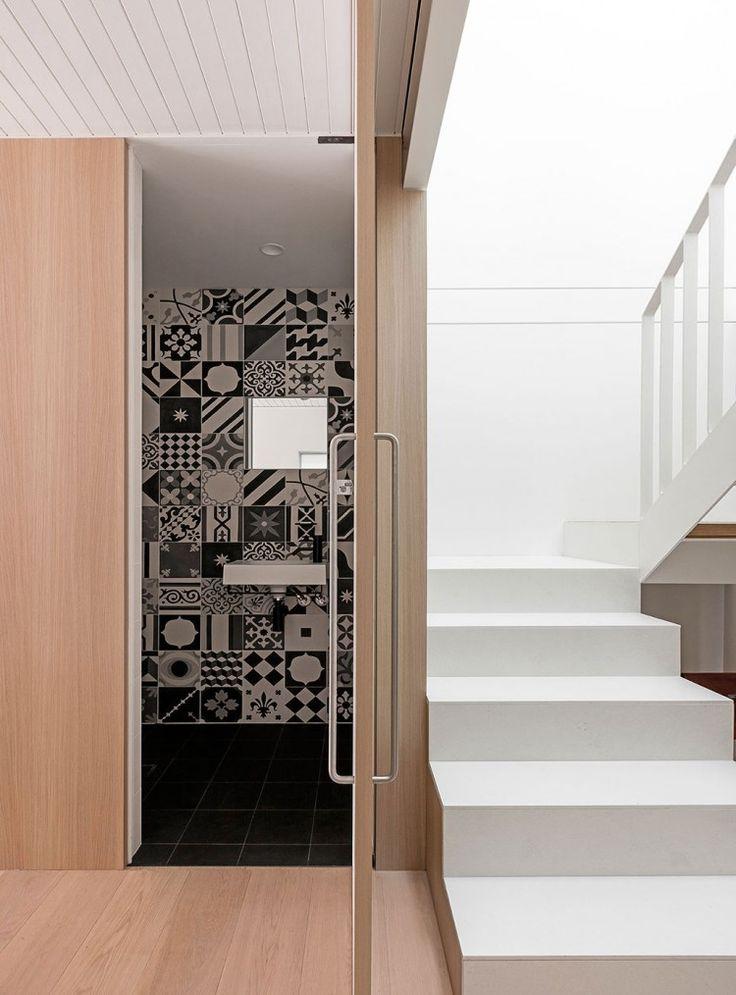 American Oak bathroom door