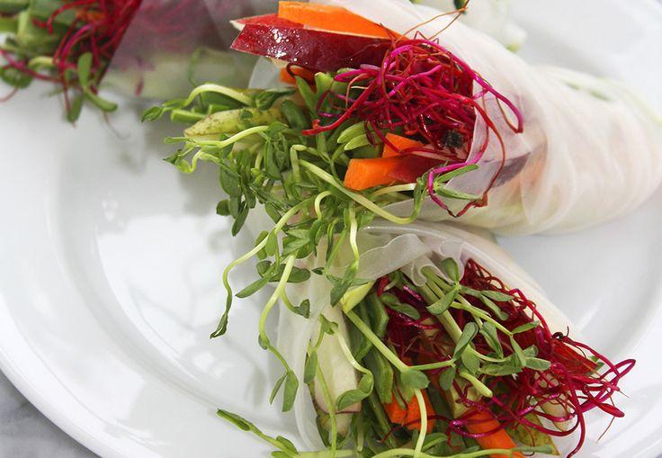 Bytt ut lefser med risblader og fyll med dine favorittgrønnsaker og deilig dip.