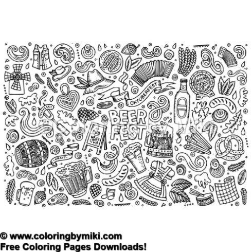 Oktober Fest Bear Fest Coloring Page 1214 Ultimate Coloring Pages