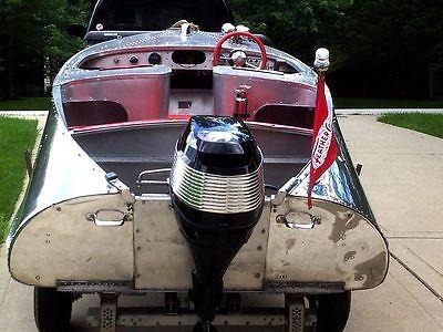 RARE 1956 Feather Craft 15' Vagabond II Vintage Aluminum Boat  RESTORED