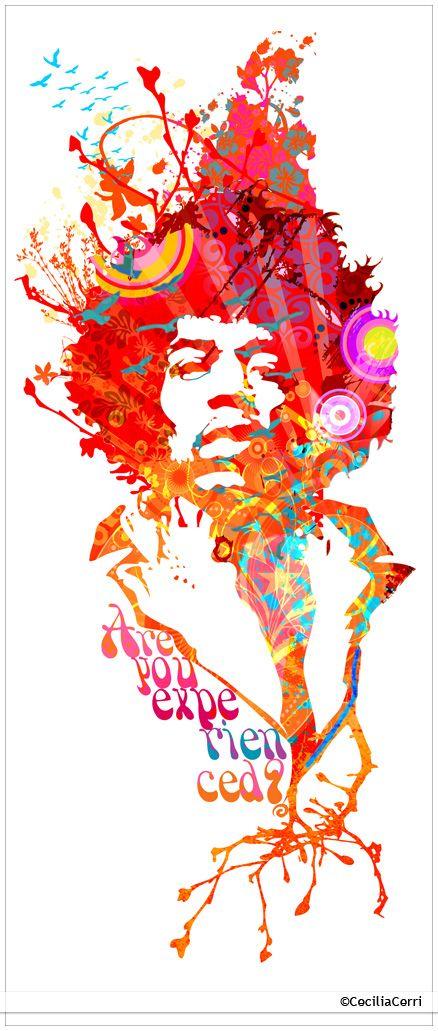 Jimi Hendrix illustration by Cecilia Cerri