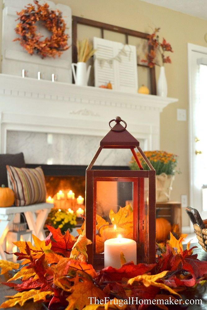 Rustic+Fall+Mantel+Home+Decor                                                                                                                                                                                 More