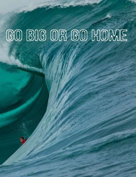 Go big or go home. Picture Quotes.