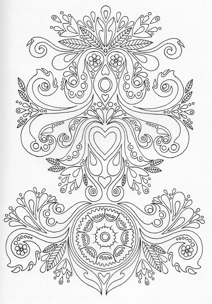Scandinavian coloring book pg 7 color pages stencils for Scandinavian colors