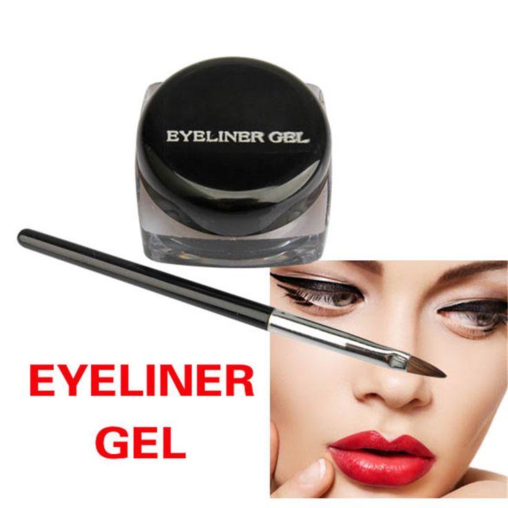 New Cosmetic Eye Liner Makeup Waterproof Eyeliner Gel Cream With Brush Delineador de ojos Kredka do oczu Rajaussivellin