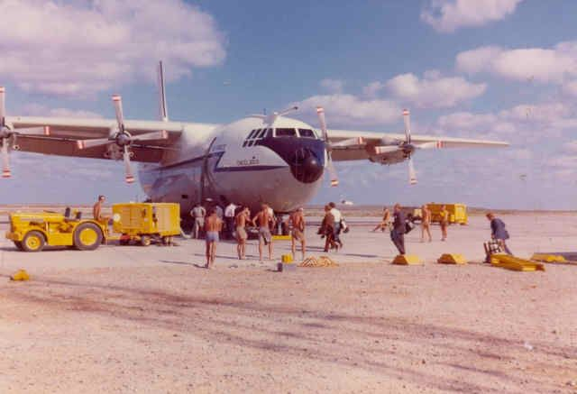 Shorts Belfast at RAF Masirah