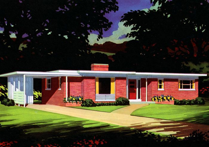 1000 images about 50 39 s interior exterior design on for 1940s homes exterior design