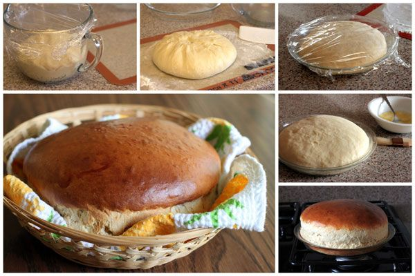 "Hawaiian Sweet Bread~{Barbara  Bakes} ..""A light and fluffy, slightly sweet round loaf of yeast bread with a Hawaiian twist.    Many of you are probably familiar with the round King's Hawaiian Sweet Bread you can buy in grocery stores. Did you know it's easy to make at home. You just make the dough, let it rest 15 minutes, shape it in to a round loaf and put it in a pie plate. After another 15 minutes resting time, you pop it in the oven until it's golden brown and ready to eat."""